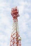 Toren voor communicatie met telecommunicaties Royalty-vrije Stock Fotografie