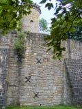 Torenans muur van kasteel Royalty-vrije Stock Foto's