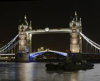 Torenbrug bij nacht. Londen. Engeland Royalty-vrije Stock Fotografie