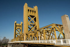 Torenbrug Oud Sacramento Stock Foto's
