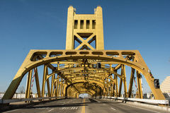 Torenbrug Oud Sacramento Stock Fotografie