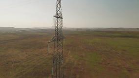 Torenhemel met hoog voltage stock footage