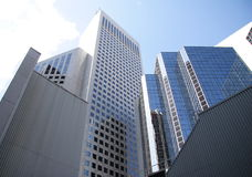 Torenhoge gebouwen in Calgary Royalty-vrije Stock Foto's
