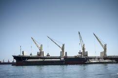 Torenkraan op boot Stock Foto's