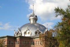 Torens bij de Universiteit van Tamper stock afbeeldingen