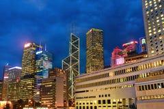 Torens in Centraal, Hong Kong royalty-vrije stock fotografie