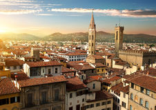 Torens in Florence stock afbeelding