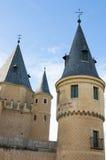 Torens van Alcazar van Segovia royalty-vrije stock afbeeldingen