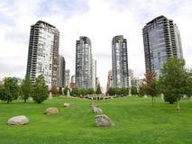 Torens van de stad van Vancouver Stock Fotografie