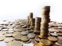 Torens van geld royalty-vrije stock foto's