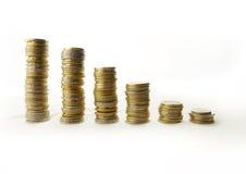 Torens van geld stock fotografie