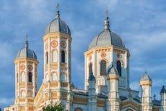 Torens van Heilige Spyridon de Nieuwe Kerk in Boekarest Royalty-vrije Stock Fotografie