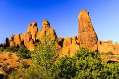 Torens van het bogen de Nationale Park Royalty-vrije Stock Foto's