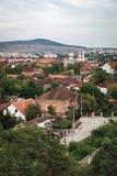 Torens van het Corvin-Kasteel in Roemenië royalty-vrije stock afbeeldingen