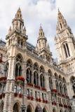 Torens van het Stadhuis van Wenen, Oostenrijk Royalty-vrije Stock Foto
