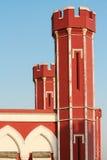 Torens van het stationgebouw in Oud Delhi. Royalty-vrije Stock Fotografie