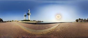 Torens van het Toenemen Zon Stock Foto's