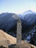 Torens van Ingushetia Oude architectuur en ruïnes Royalty-vrije Stock Afbeeldingen