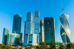 Torens van Internationale Commerciële Centrum Moskou-Stad Royalty-vrije Stock Foto's