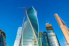 Torens van Internationale Commerciële Centrum Moskou-Stad Royalty-vrije Stock Afbeeldingen