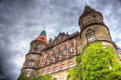Torens van kasteel Ksiaz Royalty-vrije Stock Foto's