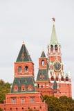 Torens van Moskou het Kremlin stock fotografie
