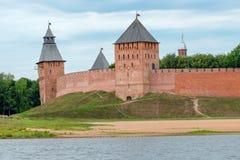 Torens van Novgorod het Kremlin in Veliky Novgorod stock foto