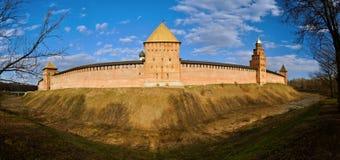 Torens van Novgorod het Kremlin in Veliky Novgorod, Rusland Royalty-vrije Stock Foto's