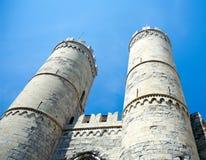 Torens van Porta Soprana (12de eeuw), Genua, Italië Royalty-vrije Stock Foto's