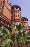 Torens van Rood Fort (Lal Qila). Oud Delhi, India Royalty-vrije Stock Foto's