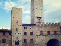 Torens van San Gimignano stock afbeeldingen