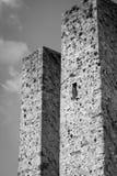 Torens van San Gimignano, Toscanië De Zwart-witte foto van Peking, China Stock Foto