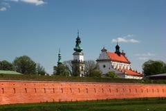 Torens van Stadhuis in Zamosc, Oostelijk Polen stock foto
