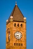 Torenspits en klok Royalty-vrije Stock Foto
