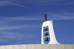 Torenspits met klokken Stock Foto