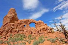 Torentjeboog bij Bogen Nationaal Park in Utah, de V.S. royalty-vrije stock foto