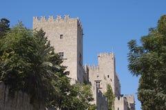 Torentjes van het Paleis van de Grote Meester, Rhodos Royalty-vrije Stock Foto's