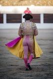 Torero con el capote o el cabo, España Imagenes de archivo