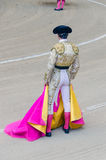 Torero rear view. Rear view of a torero with his typical dress Royalty Free Stock Photo