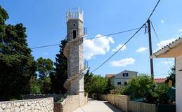 Toreta - la tour de l'amour sur l'île Silba Croatie Image stock