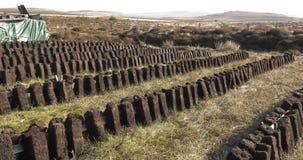 Torfowiskowy murawy rozci?cie w Irlandia zdjęcia royalty free