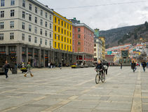 Bike Rider, Bergen Norway Stock Photography