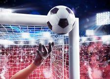 Torhüter im Stadion Wiedergabe 3d stockbild