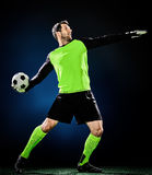 Torhüterfußballmann lizenzfreie stockfotos