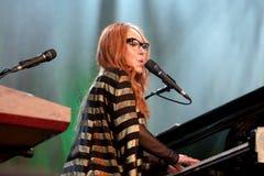 Tori Amos (sångare, låtskrivare, pianist och kompositör) utför på det Primavera ljudet 2015 Royaltyfri Foto