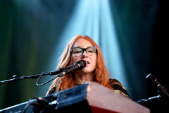 Tori Amos (singer, songwriter, pianist and composer) performs at Primavera Sound 2015 Royalty Free Stock Images