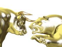 Tori contro gli orsi - mercato di oro illustrazione vettoriale