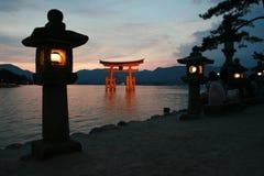Tori de Miyajima, Hiroshima Fotografia de Stock Royalty Free