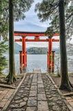 Tori del santuario di Hakone Immagini Stock