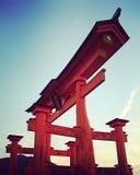 Tori di Miyajima, Giappone Fotografia Stock Libera da Diritti